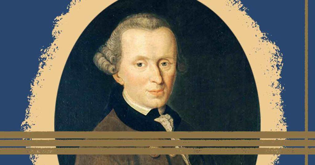 Bild zum Thema kategorischer Imperativ, ein Porträt von Kant