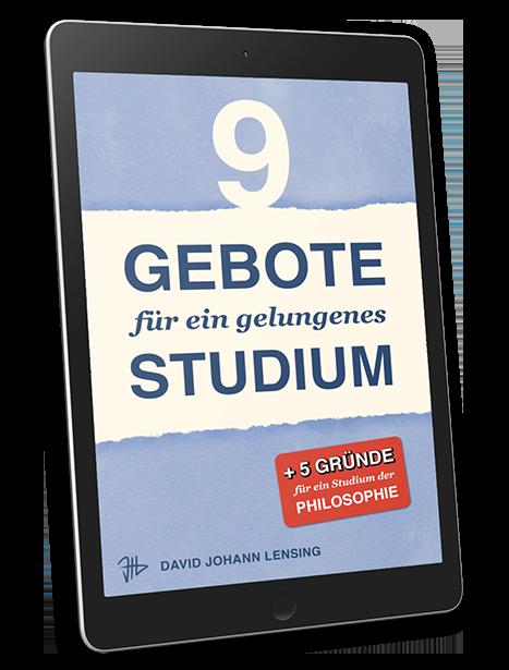 E-Book »9 Gebote für ein gelungenes Studium«